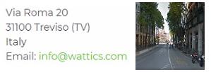 Wattics energy management treviso Italy