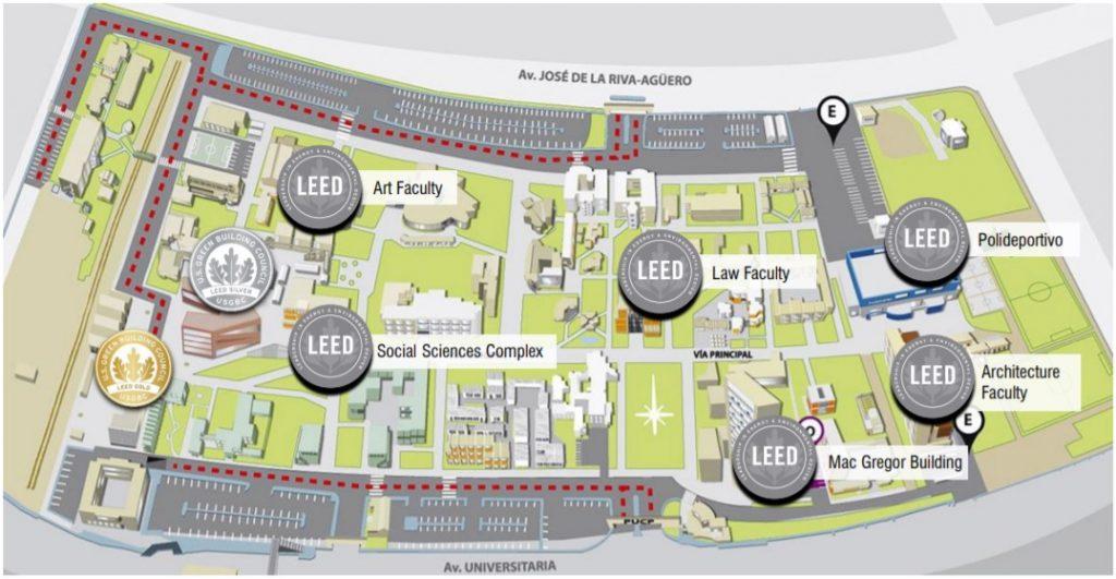 LEED map PUCP