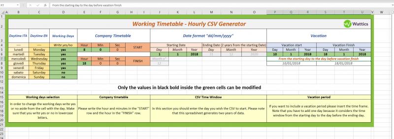 Excel spreadsheet example