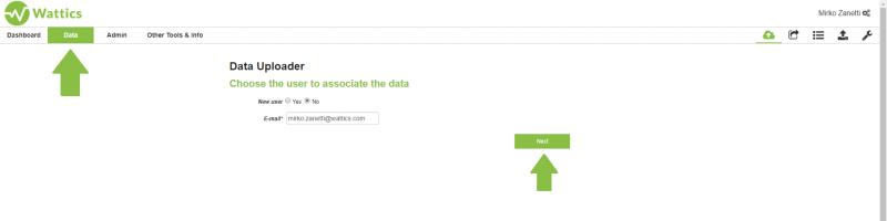 Data upload process